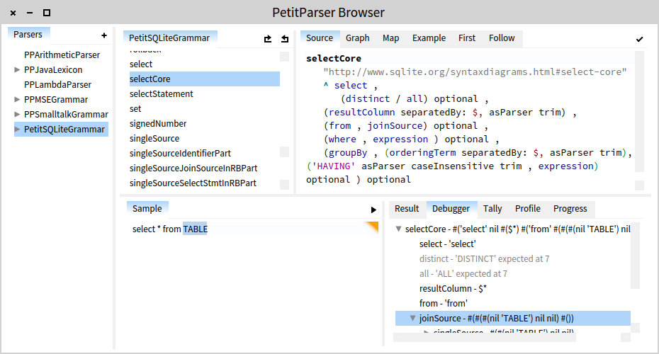 Petitparser-with-inspector